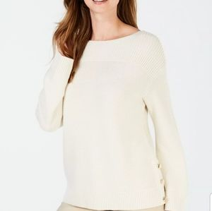 Charter Club Boat Neck Ribbed Knit Sweater